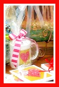"""The Valentine"" coffee cup and note card set"