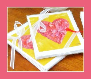"""The Valentine"" note cards"