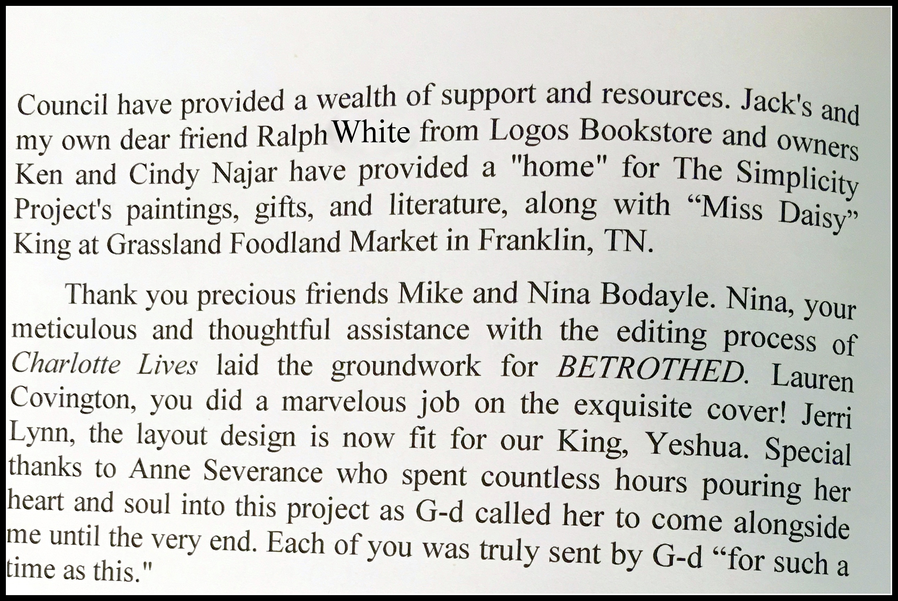 Acknowledgements pg. 2