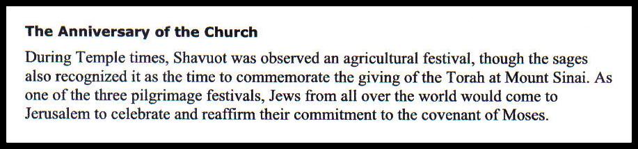 Shavuot - Hebrew for Christians 2 BLOG