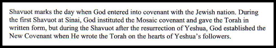 Shavuot - Hebrew for Christians 3 BLOG framed