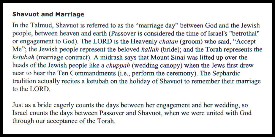 Shavuot and Marriage 6 FB