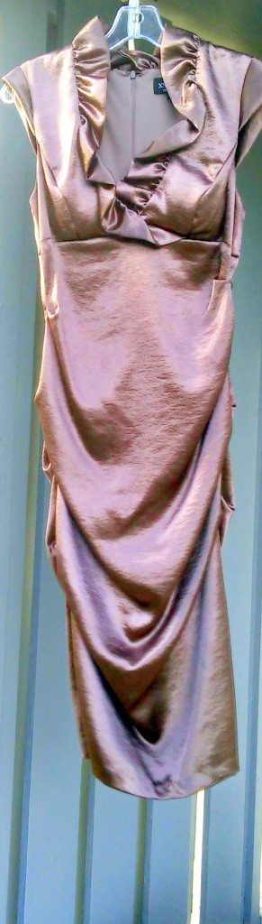 Copper Dress ~ catches light all times of the day and night XSCAPE By Joan Chen Size 8 $44