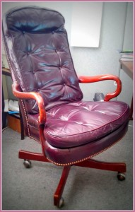 Leather Office Chair on rollers