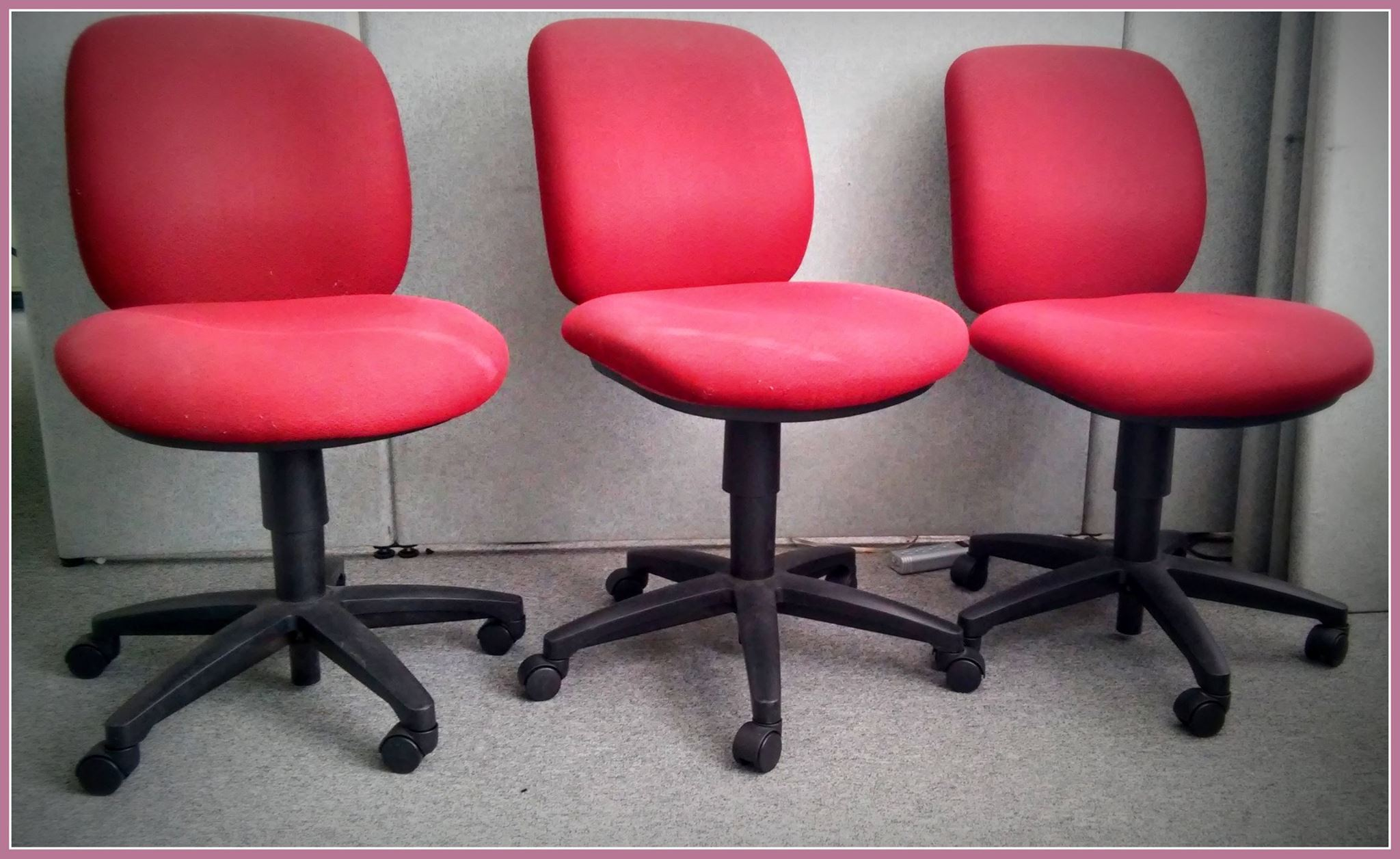 Office chairs 4 @ $21 each = The set for $80