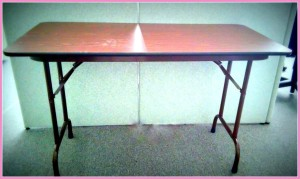 """Five Compact Folding Table - 48"""" x 24"""" $70 each X 5 = $350 or / $325 for SET"""