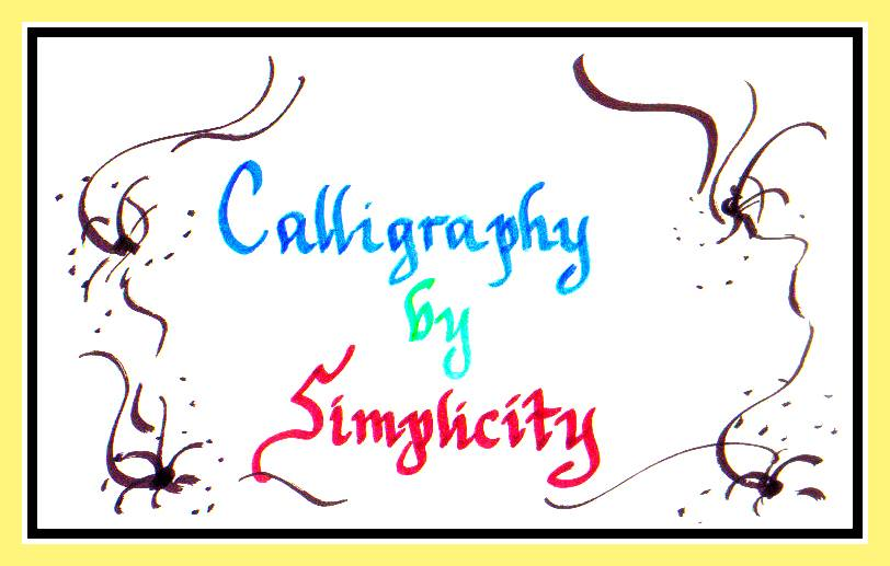 Calligraphy by Simplicity  Place cards, Christmas Cards, Wedding Invitations, Dinner Parties, Gifts, etc.  (Please contact me for requests)