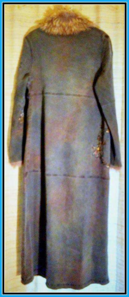 Long Blue Jean Coat GG  Size 8 $70