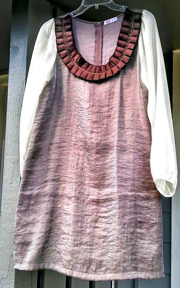 GLAM Size small Satin neckline $24