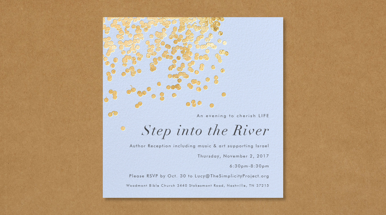 Step into the River RSVP by Oct 30 saved